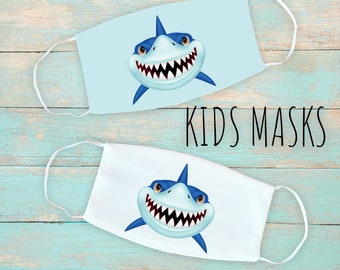 Shark Kid's Face Mask | Washable Face Mask | Christian Face Mask | Breathable Face Mask | Reusable Face Mask | Soft Face Mask