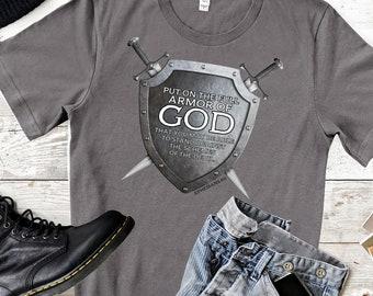 Ephesians 6:11 - Armor Of God | Men's Short Sleeve Tee | Christian t-shirt | Religious t-shirt | Faith t-shirt | Men's T-shirt