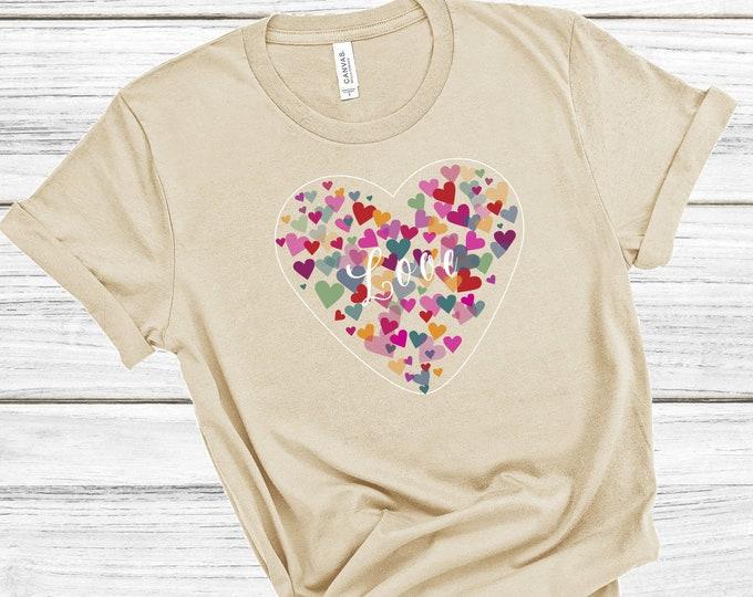Heart Love Women's Short Sleeve Tee | Christian Tee | Heart Tee | Love Tee | Spread Love | Gift for Women | Valentine's Gift | T-shirt