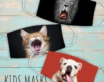 Animal Mouthce MaKids's Face Mask | Washable Face Mask | Christian | Breathable Fask | Reusable Face Mask | Soft  Face Mask