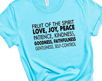 Fruit Of The Spirit Women's Short Sleeve Tee, Christian Tee, Faith Tee, Bible Verse Tee, Gift For Christian Women, Patience, Kindness
