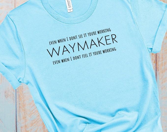 Waymaker Women Short Sleeve Tee |  Christian Tee | Religious Tee | Women's T-shirt | Faith Tee | Christian Gift For Women | God tee