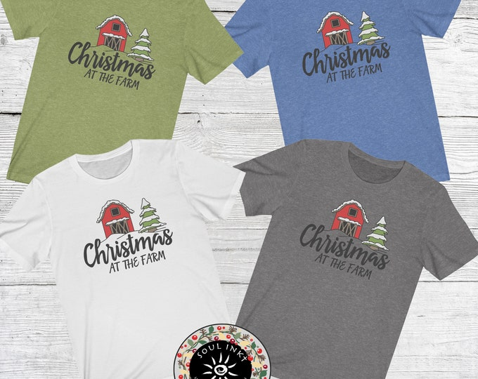 Christmas At The Farm Short Sleeve Tee