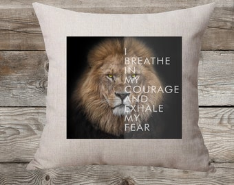 Courage Linen Pillow Cover