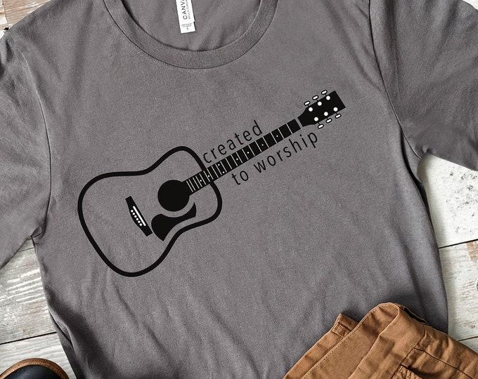 Created To Worship | Men's Short Sleeve Tee | Christian t-shirt | Religious t-shirt | Faith t-shirt | Worship Music