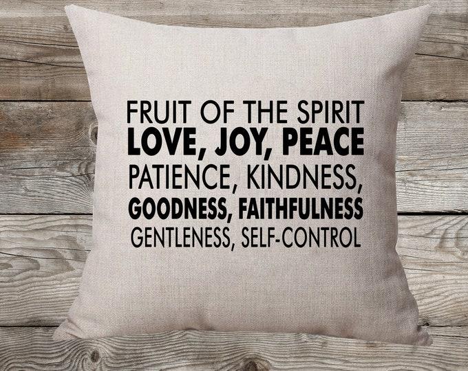 Fruit Of The Spirit - Linen Pillow