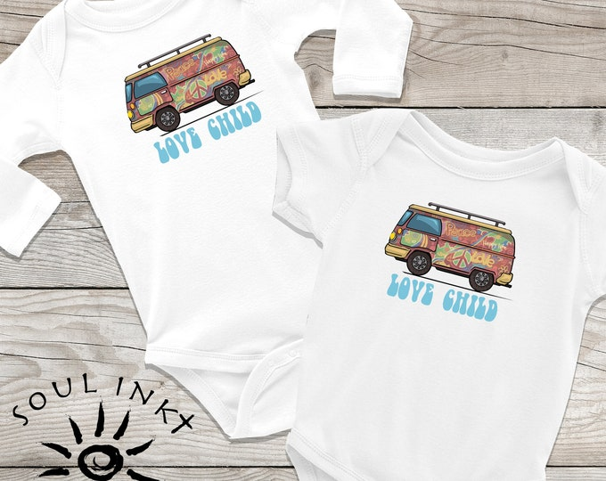 Love Child Baby Onesie | Hippie Baby Outfit | Baby Gift | Baby Girl | Baby Boy | Baby Shower Gift | Gift For New Mom | Shower Gift