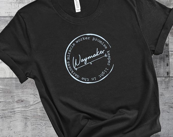 Waymaker Womens Short Sleeve Tee | Miracle Worker  | Women's Short Sleeve Tee | Christian t-shirt | Religious t-shirt | Faith t-shirt