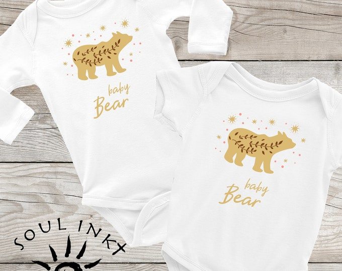 Baby Bear Baby Onesie | Baby Bear Baby Outfit | Baby Gift | Baby Girl | Baby Boy | Baby Shower Gift | Gift For New Mom | Shower Gift | Cute