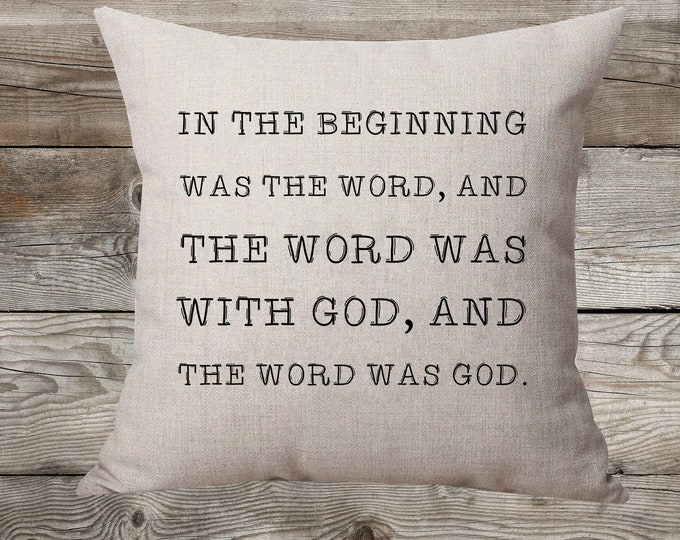 In The Beginning Was The Word - Linen Pillow