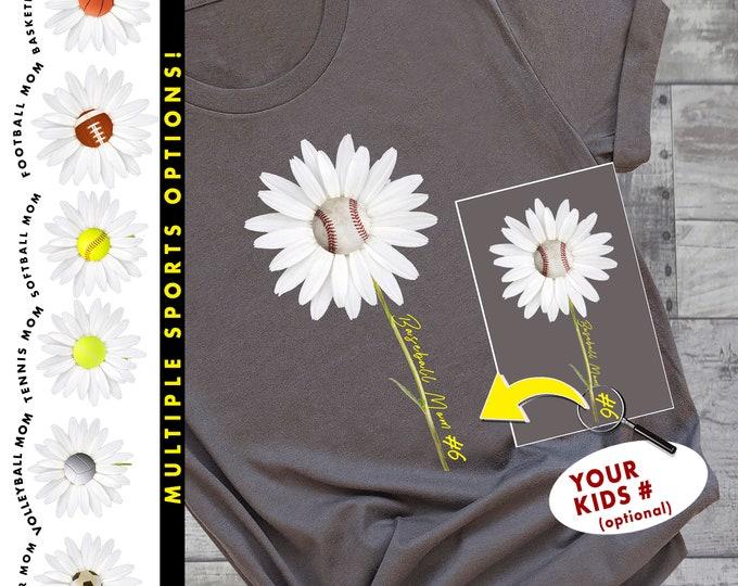 Mom Team Sports   Baseball Shirt   Basketball Shirt   Football Shirt   Tennis Shirt   Soccer Shirt   Softball Shirt   Volleyball Shirt