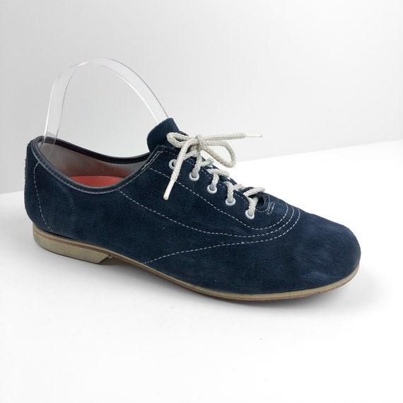 Vintage Blue Suede Bowling Shoes
