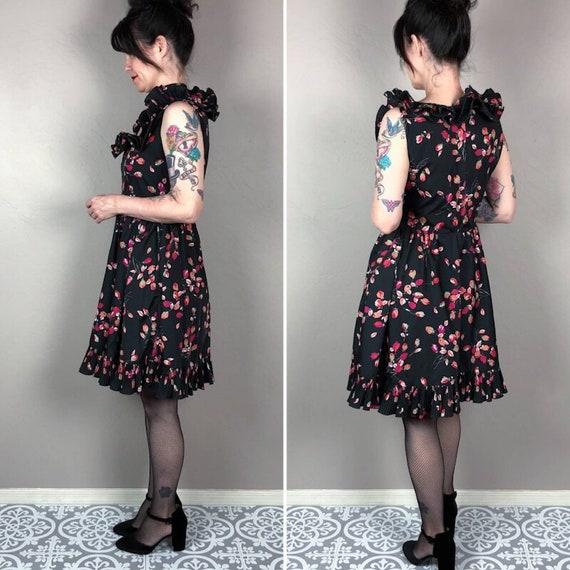 Vintage 1970s Floral Mini Dress - image 2