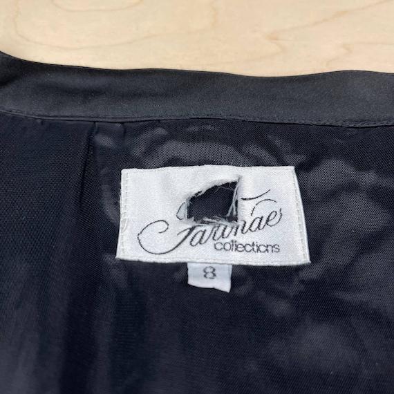 Vintage 1990s Crushed Velvet Peplum Jacket - image 3
