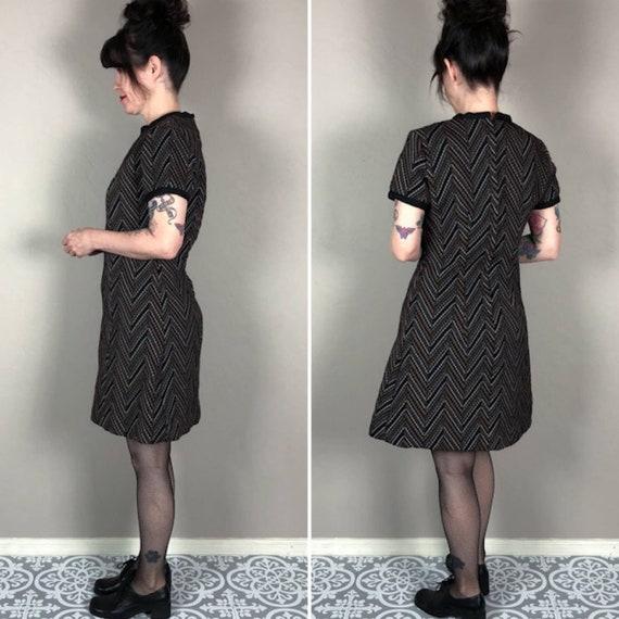 Vintage 1970s A-Line Mini Dress - image 2