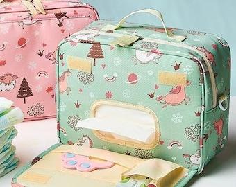 Sunveno Small Diaper bag Makeup Bag Nappy Organizer Baby Shower Gift Toiletry Bag Women