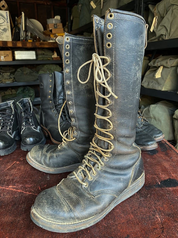 1960s Chippewa Lace-Up Logger/ Motorcycle Boots, s