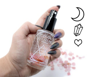 Crystal Love Spray. Invite Romance, Selflove, Peace, Friendship. Moon Water Essential Oil Mist. Chose from two sizes