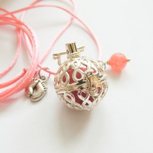 Mexican Bola with AVANTURINE STAINLESS STEEL Harmony ball  Pregnancy Gift