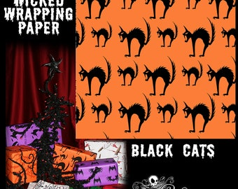 Slashes and Tears Gift Wrap GiftShrouds Wicked Wrapping Paper for Gothic Gifts Halloween /& Christmas Wrap