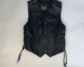 The Leather Dudes Vintage Black Vest