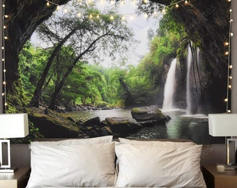 Nature Scenery Tapestry Waterfall Wall Hanging Tapestry Decorative Wall Art Deco