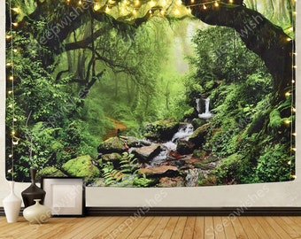 Forest Scenery Tapestry Art Wall Hanging Tapestries Throw Home DIY Decor Gifts