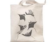 Tote Bag Mantas Cotton 140g Organic Ink