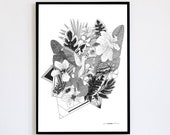 Harmony Limited Edition numbered and signed 30x40cm Poster Decoration Poster Jungle Hummingbird