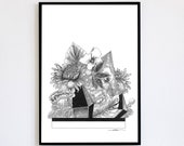 Jungle Limited Edition numbered and signed 30x40cm Poster Decoration Poster Jungle