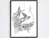 Flight Limited Edition numbered and signed copies 30x40cm Poster Decoration Poster Bird
