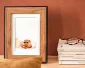 Morning hug and pastries Map A6 Illustration couple Decoration couple Postcard couple Love Love