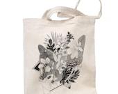 Tote Bag Hummingbird Organic Cotton 140g Organic Ink