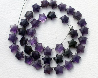 Lot of Stunning AAA Quality 10 Pieces Natural Amethyst 10x10 MM Faceted Heart Shape Briolettes Loose Gemstone