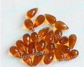 10 Pieces Citrine Quartz Teardrops Stone 9X18 mm Faceted Drop Briolettes Gemstone Beads Citrine Beads Jewelry