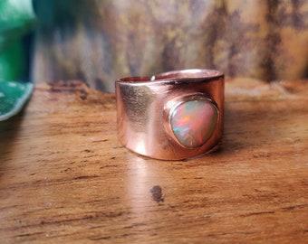Broad band ring Gift Ring Statement Ring Solid brass Ring designer ring Handmade jewelry brass jewelry amezonite brass gemstone ring