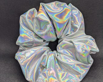 Holographic Rainbow Scrunchie handmade