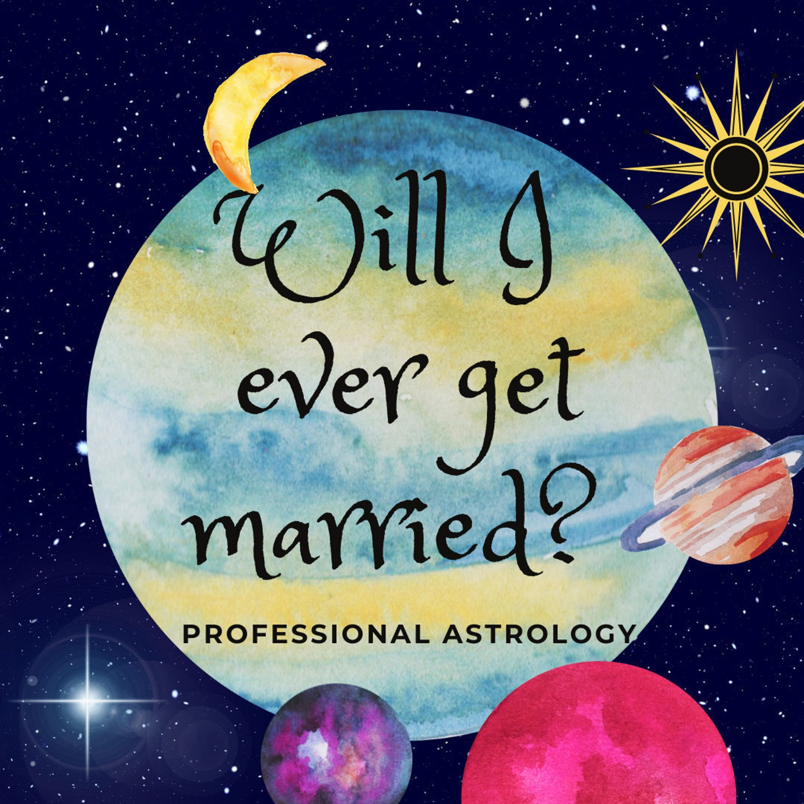 Will I get Married Astrology Reading Love Reading | Etsy