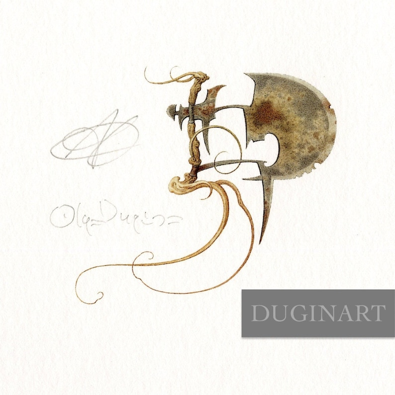 THE AXT by Olga Dugina and Andrej Dugin Fine Art Print Vignette from The Brave Little Tailor