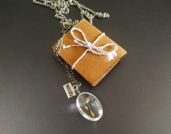Dandelion necklace - symbol of victory and courage