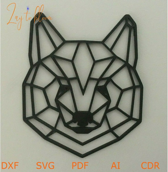 DXF fichier pour laser Wooden bear head art wall, Vector projects for CNC router and laser cutting, svg File, cnc Cut Vector, Plywood 3mm