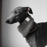 Hand knitted Snood for Italian Greyhounds | Dark Gray