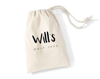 Personalised 100% Cotton Golf Stuff Drawstring Bag  Drawstring   Bag   Golf   Golfers   Golf Balls   Golf Tees