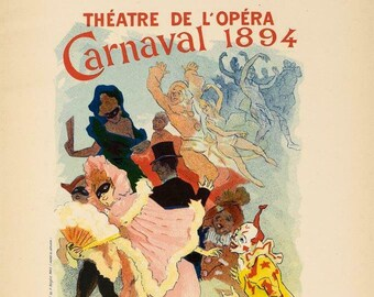 AV28 Vintage 1896 French Theatre de L/'Opera Advertisment Poster A2 A3