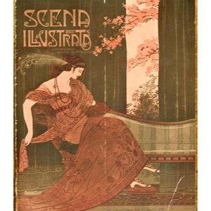 Scena Illustrata 1900 Arts literature music theatre Woman Cover 9