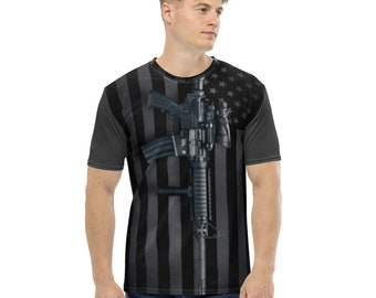 Men's AR-15 Flag Stretch Jersey T-shirt