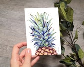 PINEAPPLE | drawing | card | A6 | art print | greeting card | notecard | with envelope