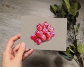 GRAPES | drawing | card | A6 | art print | greeting card | notecard | with envelope