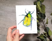 FLOWER BUG | card | A6 | art print | greeting card | notecard | with envelope