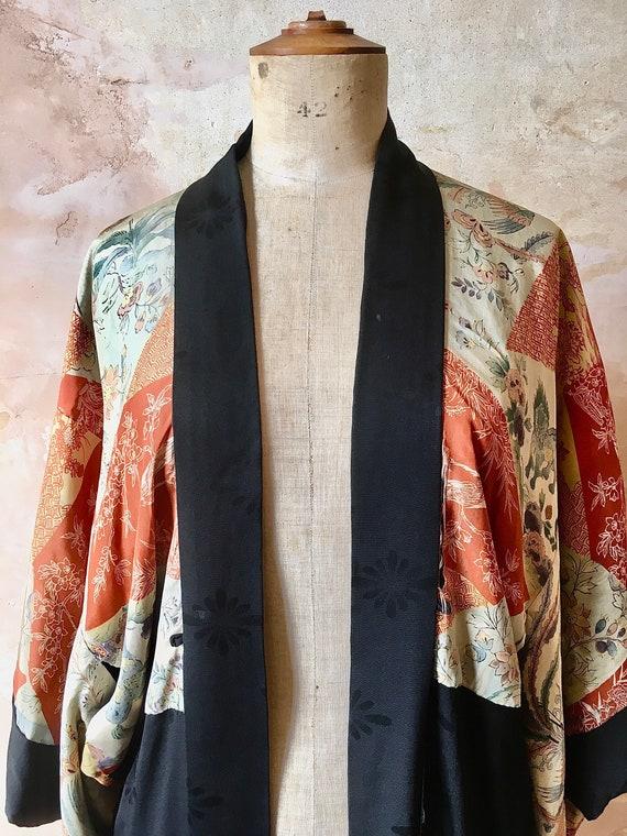 Vintage 1920's Japanese Kimono Size UK 12-14